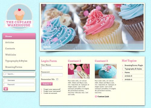 warehouse color-example cupcake